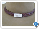 J01 - Braided Hat band with ivory scrimshaw